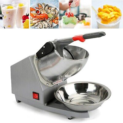 Iceshaver Machine Snow Cone Maker Shaved Ice 143lbs Electric Crusher Shaving Chi