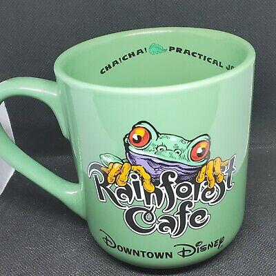 Downtown Disney Rain Forest Cafe Cha Cha Green Tree Frog Collectible Coffee Mug