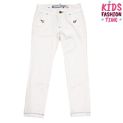 SIMONETTA JEANS Trousers Size 6Y / 122CM Stretch Contrast Stitching