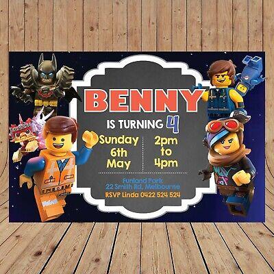 Personalised LEGO MOVIE 2 Kids Party Invitations Invites DIGITAL - YOU PRINT - ](Kids Invitations)