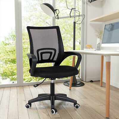 Ergonomic Mesh Office Chair Adjustable Swivel Executive Fabric Swivel Desk Chair