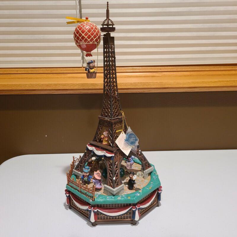 "Enesco Small World of Music ""I Love Paris"" Action Musical 1993 Mice Eiffel Tower"