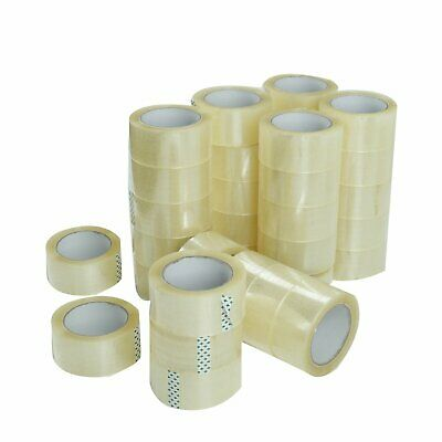 36 Rolls Clear Packing Packaging Carton Sealing Tape 1.8 Mil Thick 2