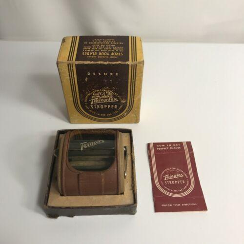 Vintage Deluxe Twinplex Stropper Double Edge Razor Blade Sharpener in Box