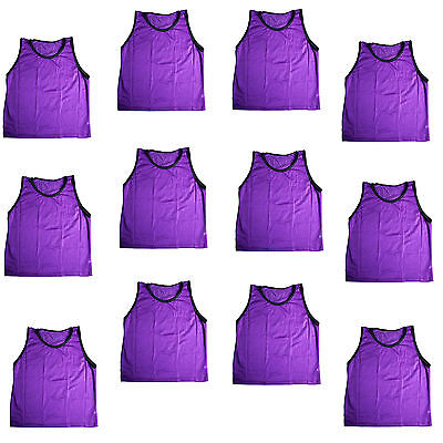 12 Purple ADULT Scrimmage Training Vests Pinnies Football, Soccer, Softball NEW!