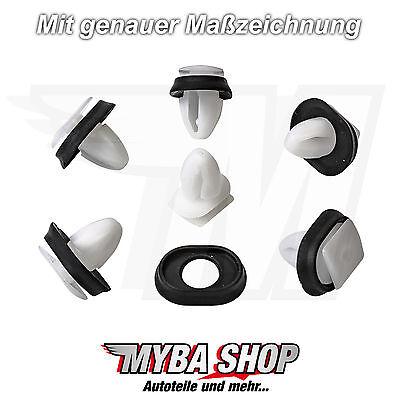 30x Clips Body Side Moldings Mounting Moulding Clip Peugeot Citroen 856543
