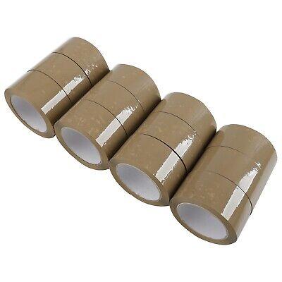 12 Rolls Premium Brown Carton Box Sealing Packing Tape 2.5 Mil Thick 2x110 Yard