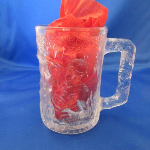 Vintage McDonalds BATMAN FOREVER Glass Mug Cup 1995 Made in France DC Comics