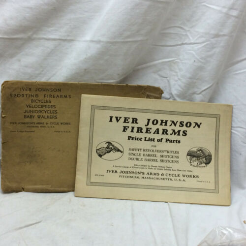 Vintage 1935 Advertising Iver Johnson Sporting Fitchburg Mass.