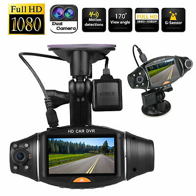 GPS FHD Dash Cam Infrared Night Vision Dual 1080P Front and Inside Dash Camera