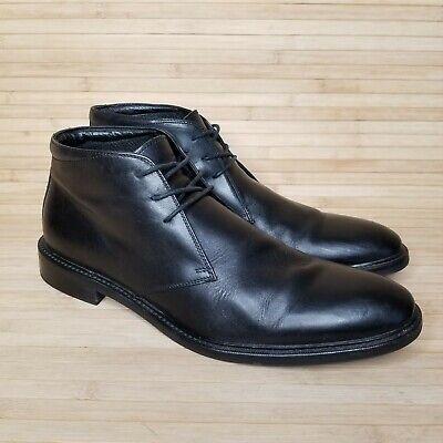 Gordon Rush Black Leather 3 Eye Weston Dress Boots Shoes Sharp sz 11 3 Eye Shoes Boots