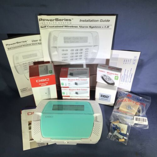 New DSC PowerSeries Self Contained Wireless Alarm System v1.0 KIT447-1CP01