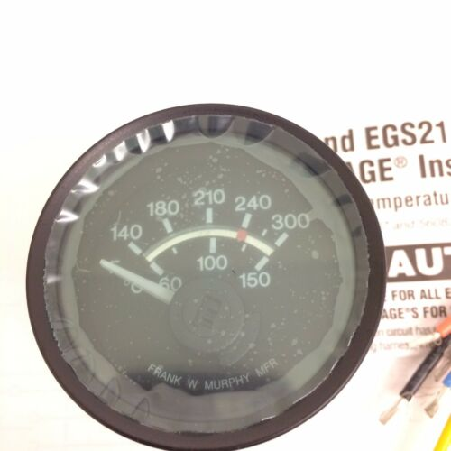 New In Box Murphy EGS21T-300-24-A Coolant Temperature Gauge, Voltage: 24VDC