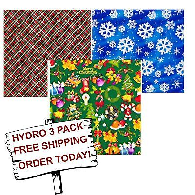 Hydrographic Film Water Transfer Printing Film Hydro Dip Holiday 3 Pack