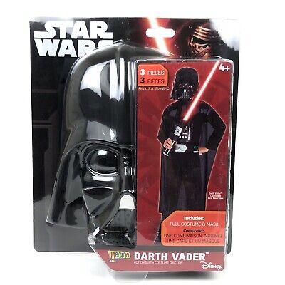 Star Wars Darth Vader Boys Costume Halloween Dress Up Disney Kids Medium