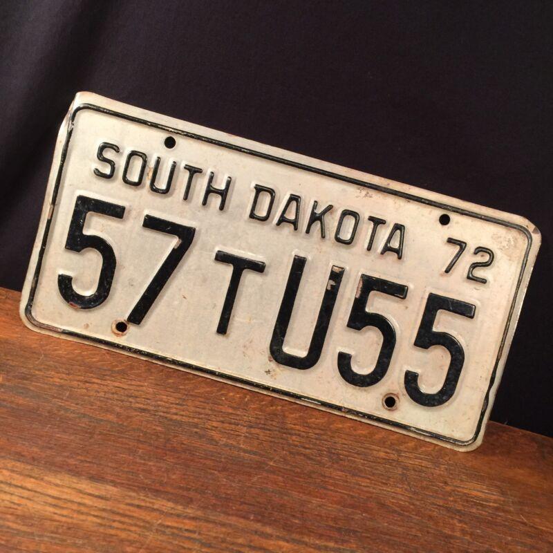 Vintage South Dakota 1972 License Plate 57 T U55