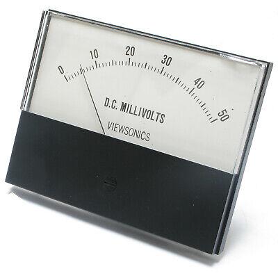 Analog Panel Meter 0 - 50 Millivolts Dc 4.5 Inch