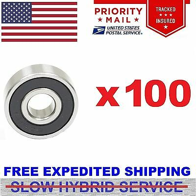 100pcs 608-2RS Rubber Seal Skate Roller Hockey Bearing Fidget Spinner ABEC 7 5