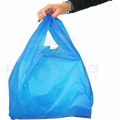 """1000x Large White Vest Plastic Carrier Bags 17x11x21/"""""""