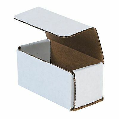 50 - 4x2x2 Small White Corrugated Cardboard Packaging Shipping Mailing Box Boxes