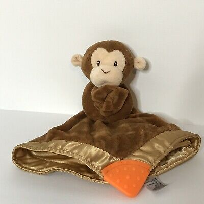 Baby Gund Brown Monkey Holding Lovey Security Blanket Teether Toy Stuffed Animal