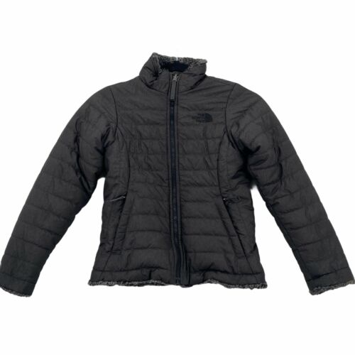 The North Face Mossbud Swirl Reversible Jacket Sherpa Lined Girl