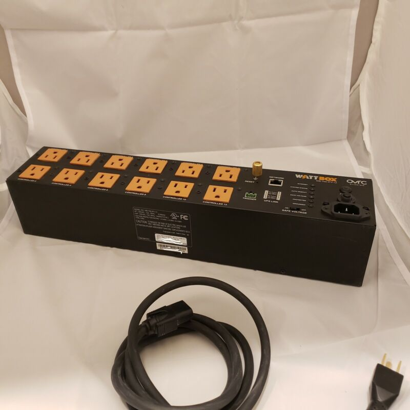WattBox IP Power Cond w/OvrC Home 12 Controlled Outlets