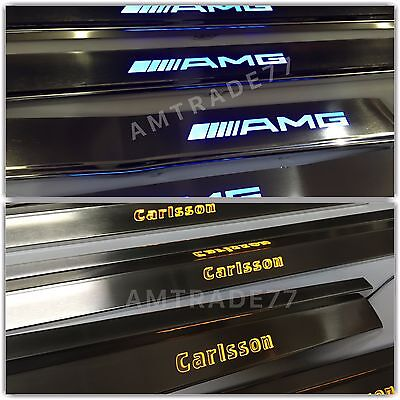 Mercedes Benz S Class W140 W124 Style AMG Brabus Illuminated Door Sills Panels w, used for sale  Shipping to Canada
