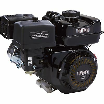 Ironton OHV Horizontal Engine- 208cc 3/4in (19 05mm) x 2 19/64in