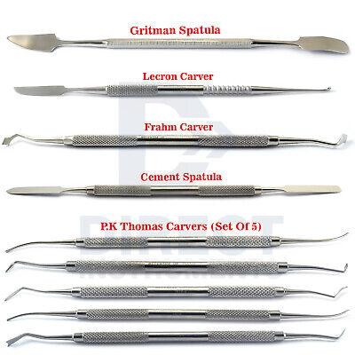 9pcs Dental Amalgam Carvers Pk Thomas Cement Spatula Wax Modelling Restorative