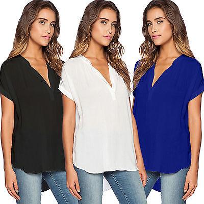 Women's Plus Size V Neck T-Shirt Top Short Sleeve Summer Cas
