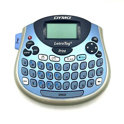 Dymo Letrataglt-100t Label Maker Thermal Printer 2-line Handheld Tested Works
