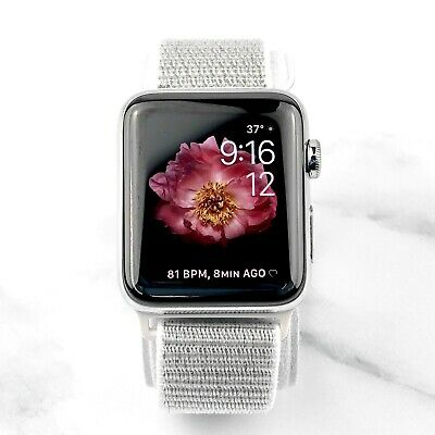 Apple Watch Series 2 38mm Stainless Steel with Silver Nylon Loop GPS