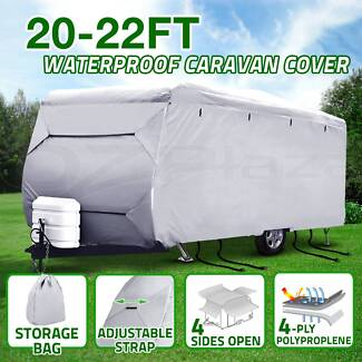 Heavy Duty 20-22 ft 4 Layer Caravan Campervan Cover UV Carry Bag