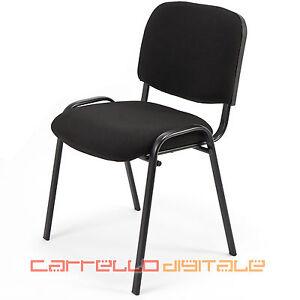 6 sedie sedia d 39 attesa imbottita ideale per ufficio - Sedie ufficio mercatone uno ...