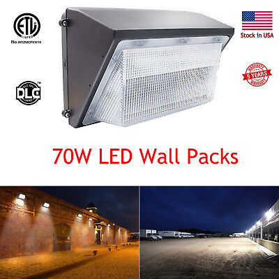 LED Wall Pack 70W Waterproof Commercial Lighting Fixture,300-400W HPS/MH Replace