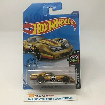 '76 Greenwood Corvette #34 * GOLD * 2020 Hot Wheels Case B
