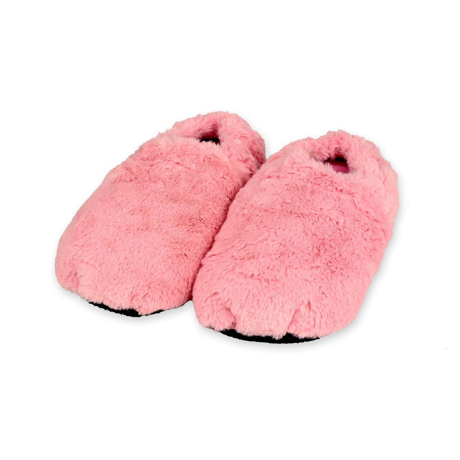 Details About Zhu Soft Plush Microwave Heated Slippers Wheat Bag Feet Warmers Microwavable