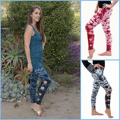Circle Cut Out Leggings Fair Trade Jayli S, M, L, XL fashion fun dance Tie Dye
