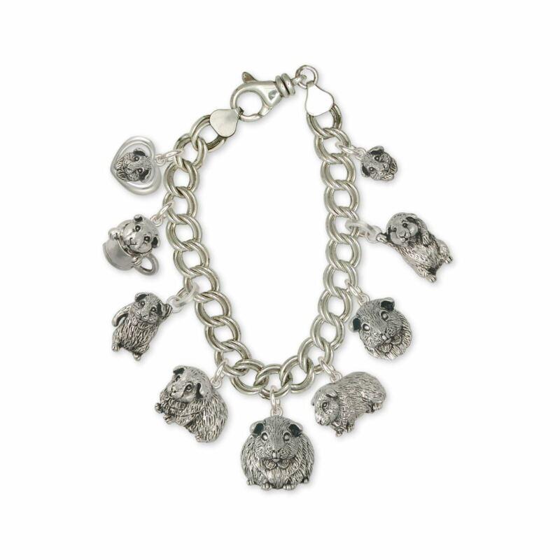 Guinea Pig Bracelet Jewelry Sterling Silver Handmade Piggie Bracelet GP-CBR