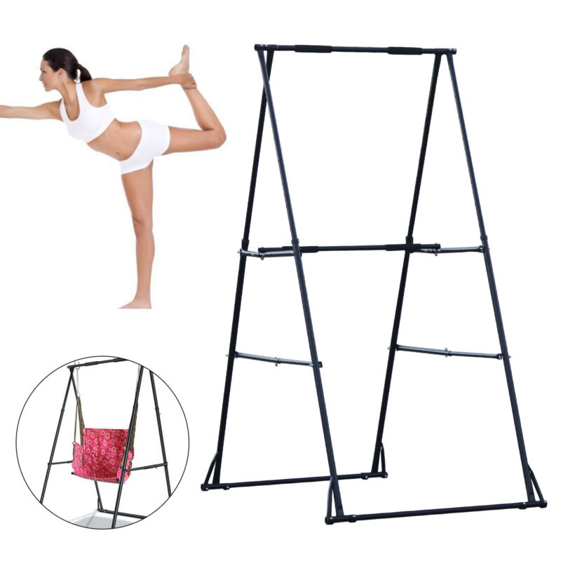 Aerial Trapeze Stand Portable Frame Yoga Swing Bracket Outdoor Aerial Hammock US