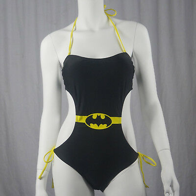 Authentic DC COMICS Summer '14 Batman Girl Monokini Junior Sexy Bathing Suit S - Authentic Batman Suit