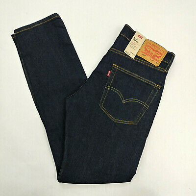 Levis Men`s 502 Taper Regular Fit Stretch Dark Wash Jeans Size 30x30