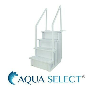 "Aqua Select 28"" Wide Above Ground Heavy Duty Swimming Pool Step Ladder System"