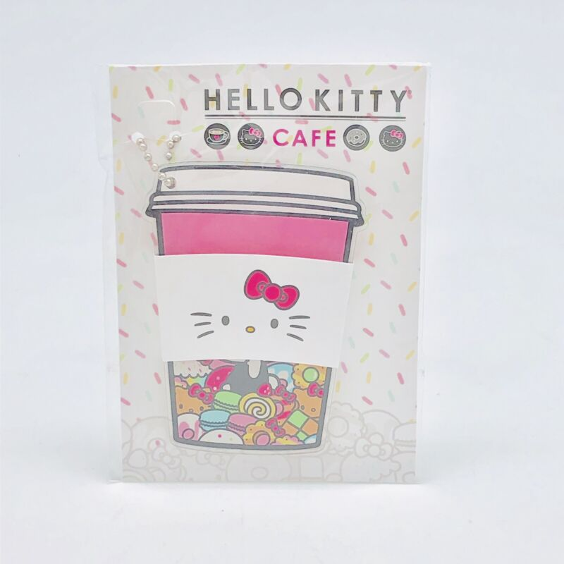 NEW Hello Kitty Cafe Truck Exclusive Plastic Sanrio Keychain