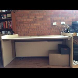 Large solid work desk