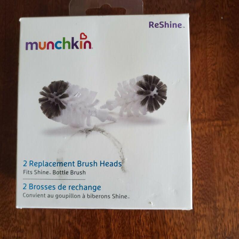 Munchkin 2 Replacement ReShine Bottle Brush Heads NEW