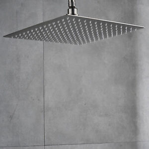 Ultrathin Brushed Nickel 16-inch Square Rain Shower Head Bathroom Shower Heads