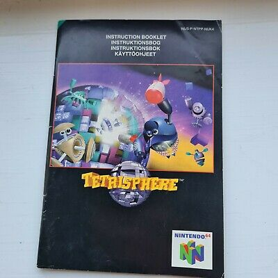Tetrisphere N64 Official Nintendo 64 Pal Game Manual Instruction Book Only VGC