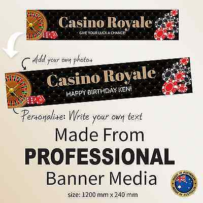 Personalised  Casino Royale 21st 30th Birthday Canvas Party Banner Decorations ](Casino Royale Decorations)